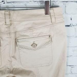 WHITE HOUSE BLACK MARKET   stretch crop pants